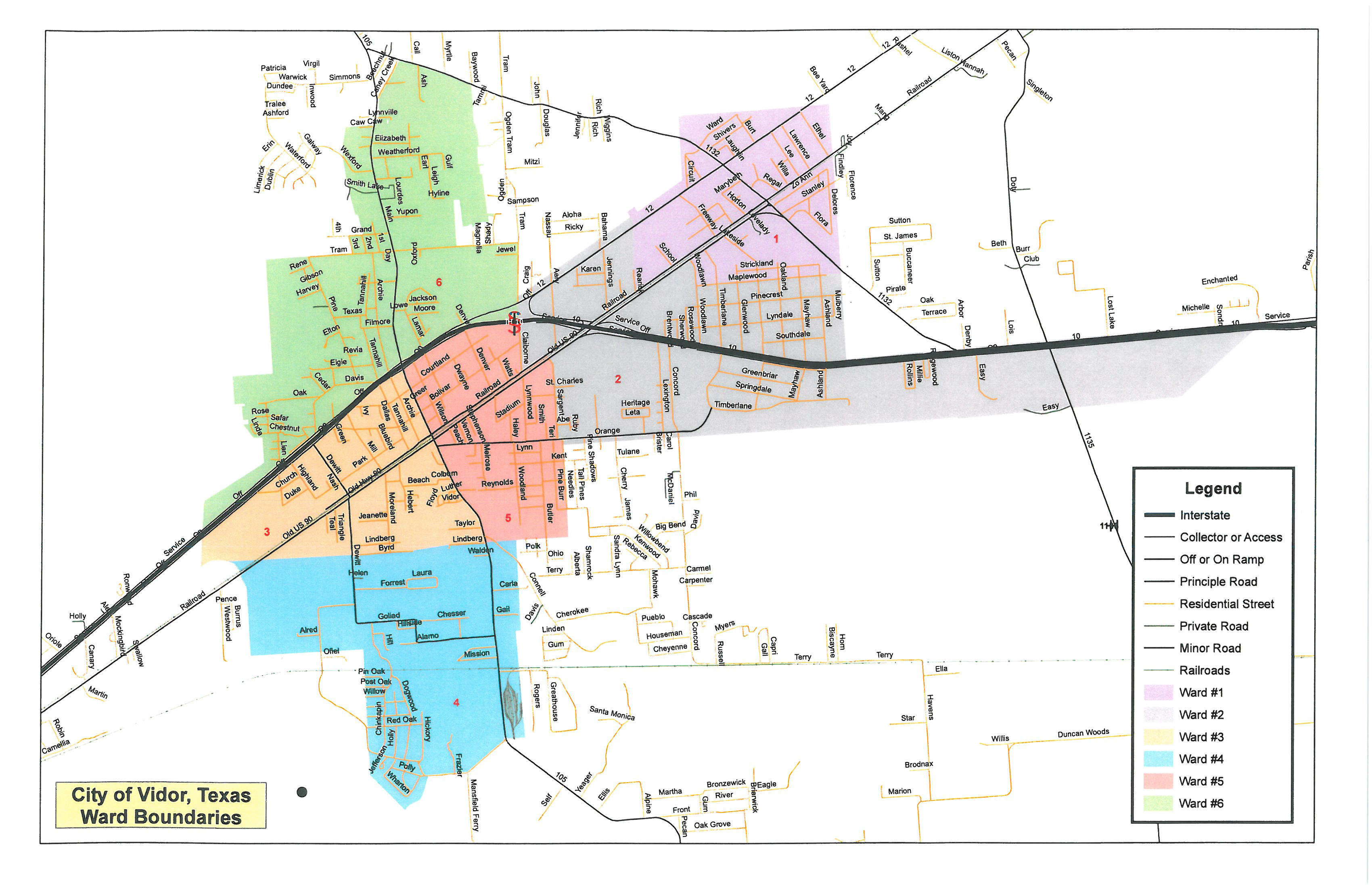 Ward Boundary Map