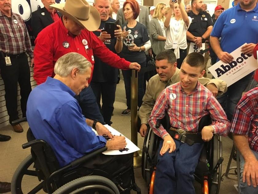 Logan Archer Meets With Texas Governor Greg Abbott