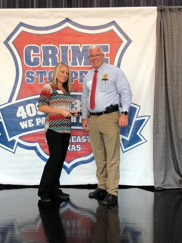The City Of Vidor would like to congratulate Ward 3 Councilwoman Misty Songe on her receipt of the Crimestopper Of The Year award for the year 2019.