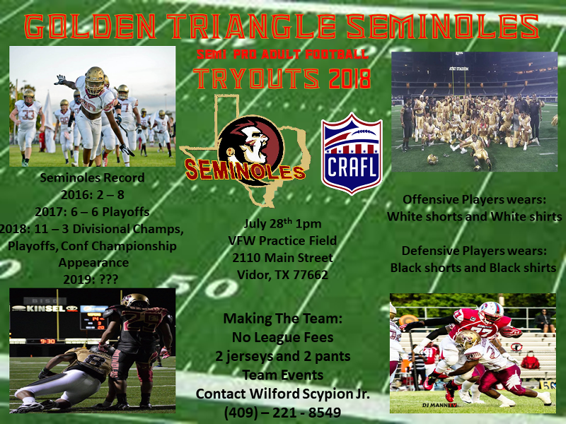 Golden Triangle Seminoles Tryouts 2018