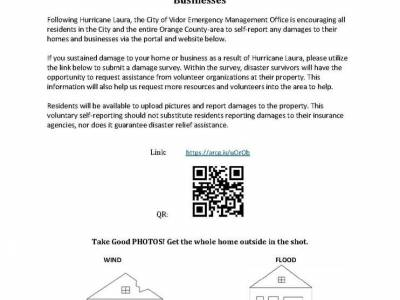Area Residents Urged To Self Report Damages To Homes And Businesses