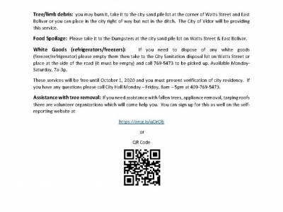 Debris and Food Spoilage Information Updated 9-1-2020