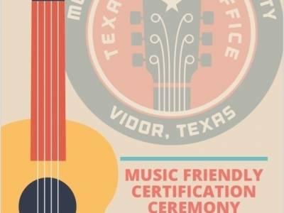 Governor Abbott Announces Vidor Designated As Music Friendly Community